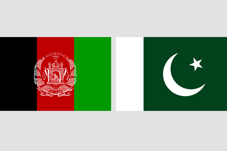 Afghanistan-Pakistan Flags