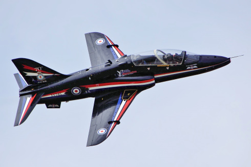 A Hawk T1 being used for Red Arrows training. Over 900 Hawks have been sold to operators around the world.