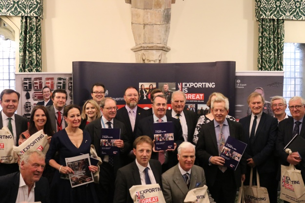 Dr Liam Fox alongside MPs at the launch of the MP Toolkit