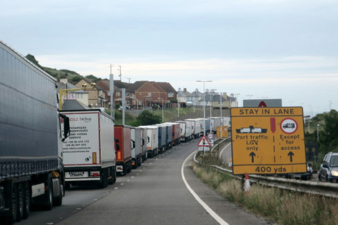 Lorries Queuing on the M20