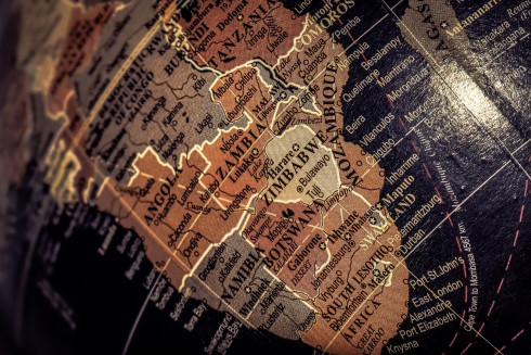 Globe Africa Continent
